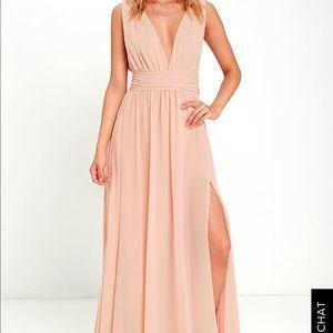 Lulus Heavenly Hues Blush Dress